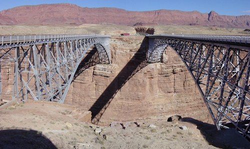 Navajo Bridge Marble Canyon, Arizona in Vacation