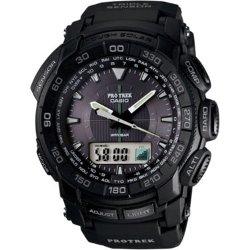Pro Trek Mens Triple Sensor Solar Watch by Casio in Blackhat