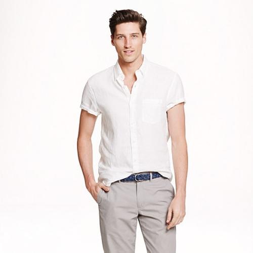 Short-Sleeve Irish Linen Shirt by J.Crew in My All American