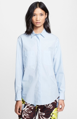 Button Front Cotton Shirt by MSGM in Fantastic Four