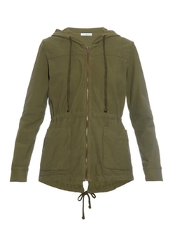 Jersey-Twill Parka Jacket by James Perse in Quantico