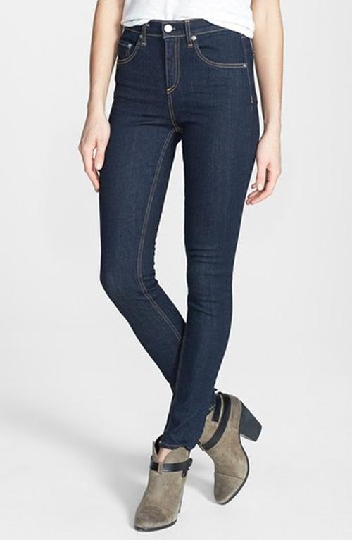 High Rise Skinny Jeans by Rag & Bone/Jean in New Girl - Season 5 Episode 6