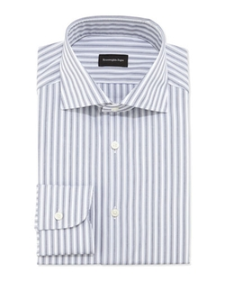 Woven Bold Stripe Dress Shirt by Ermenegildo Zegna	 in The Good Wife