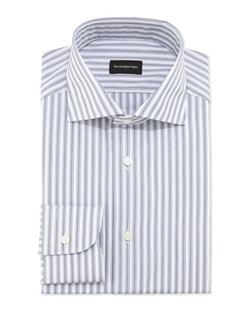 Woven Bold Stripe Dress Shirt by Ermenegildo Zegna in The Good Wife