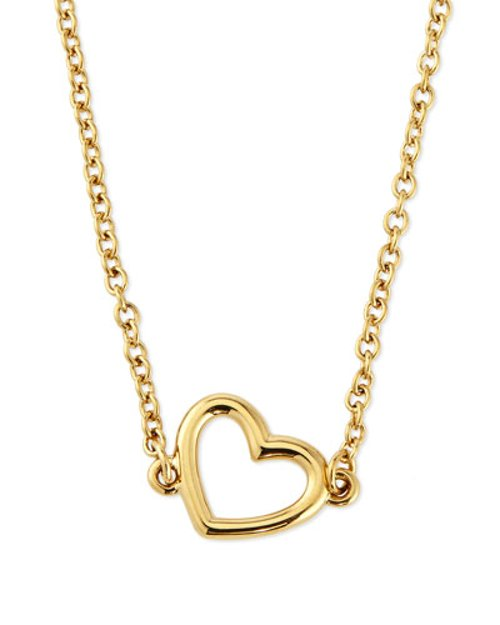 Golden Heart Pendant Necklace by Marc Jacobs in McFarland, USA