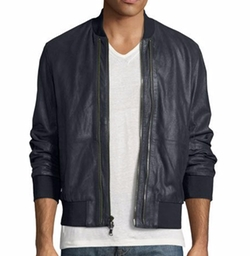 Burnished Leather Bomber Jacket by John Varvatos in Shadowhunters