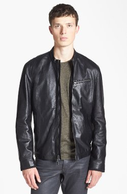 Leather Moto Jacket by John Varvatos Star USA in The Counselor