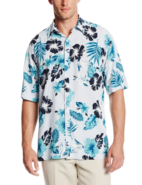 Short Sleeve All Over Floral Print Shirt by Havanera in Me and Earl and the Dying Girl