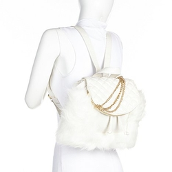 Faux Fur Backpack by June Ambrose in Clueless