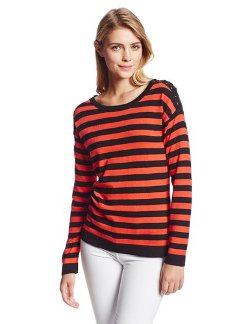 Women's Stripe Pullover by Anne Klein in Her