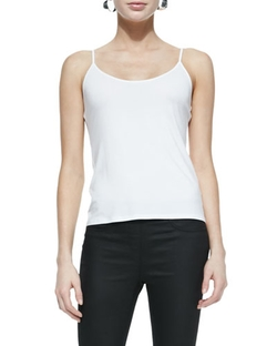 Scoop-Neck Jersey Cami Top by Eileen Fisher in Clueless