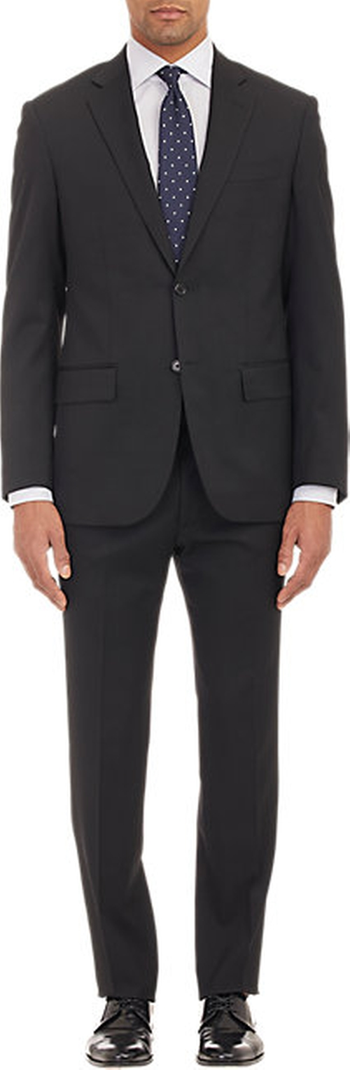 Worsted Wool Two-button Suit by Maurizio Baldassari in Miss You Already