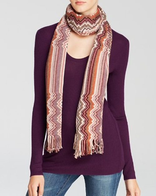 Stripe to Zig-Zag Scarf by Missoni in The Best of Me
