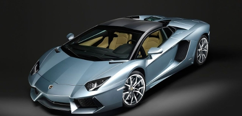 Aventador Roadster Sports Car by Lamborghini in Self/Less