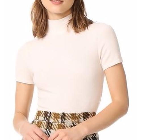 Ribbed Short Sleeve Turtleneck Sweater by Three Dots in Jessica Jones - Season 1 Episode 3