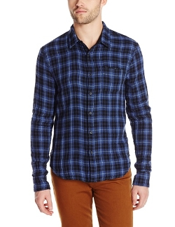 Reversible Solid/Plaid Button-Front Shirt by Joe's Jeans in Ex Machina