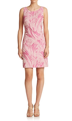 Brushstroke-Print Jacquard Dress by Kay Unger in Scream Queens