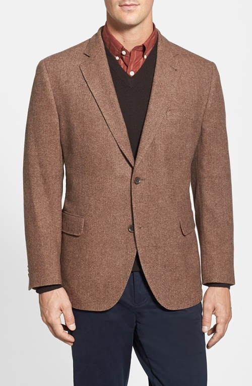 Herringbone Wool Blend Sport Coat by Kroon in Fantastic Four