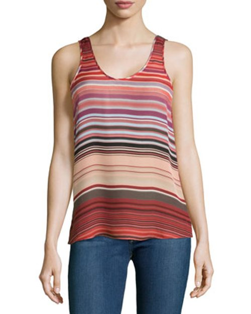 Silk Stripe Tank Top by Michael Stars in McFarland, USA