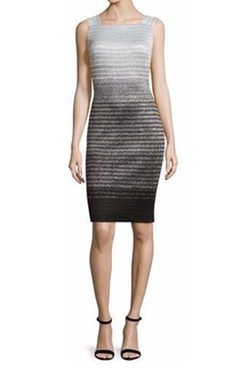 Collection Metallic Degrade Peekaboo Sleeveless Dress by St. John in How To Get Away With Murder