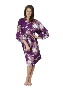 Flying Crane & Peony Kimono Robe by Beautiful Robes in Chelsea