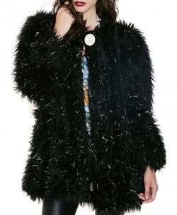Street Style Imitated Fur Jacket by ChicNova in Clueless