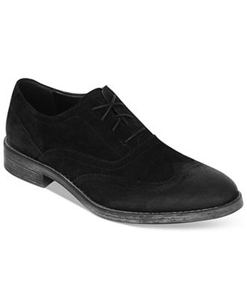 Vanderbilt Suede Basic Wing-Tip Shoes by Marc New York in Prisoners