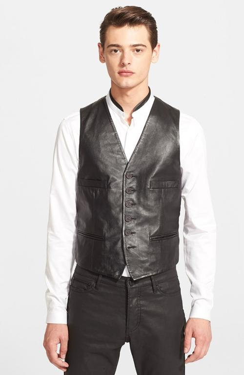 Black Leather Vest by The Kooples in The Expendables 3