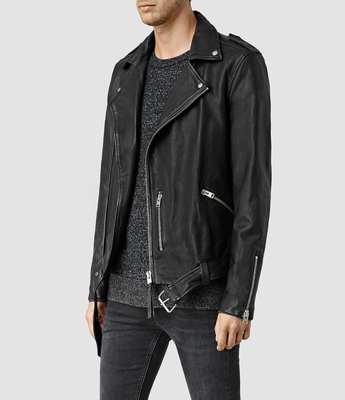Kahawa Leather Biker Jacket by All Saints in Keeping Up With The Kardashians - Season 11 Episode 13