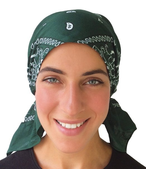 Paisley Bandana Head Scarf by Uptown Girl Headwear in Me and Earl and the Dying Girl