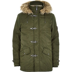 Green Only & Sons Parka Jacket by River Island in The Finest Hours