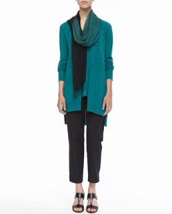 Linen-Cotton Slub Cardigan by Eileen Fisher in If I Stay