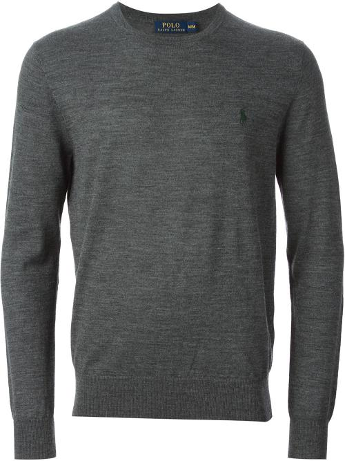 Slim Fit Crew Neck Sweater by Polo Ralph Lauren in Neighbors