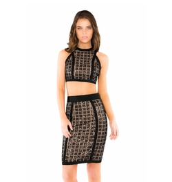 Bead Embellished Two-Piece Lace Dress by Wow Couture in The Bachelorette