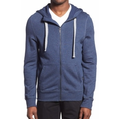 Terry Cotton Blend Zip Hoodie by 2Xist in Love, Simon