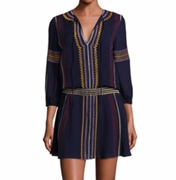 Jolene Embroidered Drop-Waist Dress by Alice + Olivia in New Girl