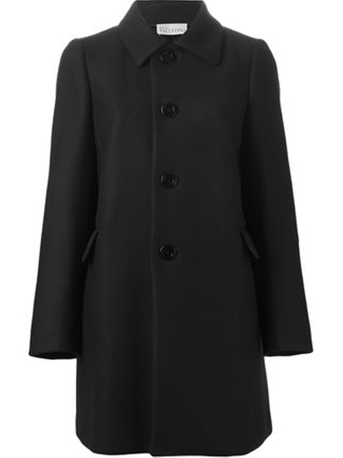 Classic Buttoned Coat by Red Valentino in How To Get Away With Murder - Season 2 Episode 7