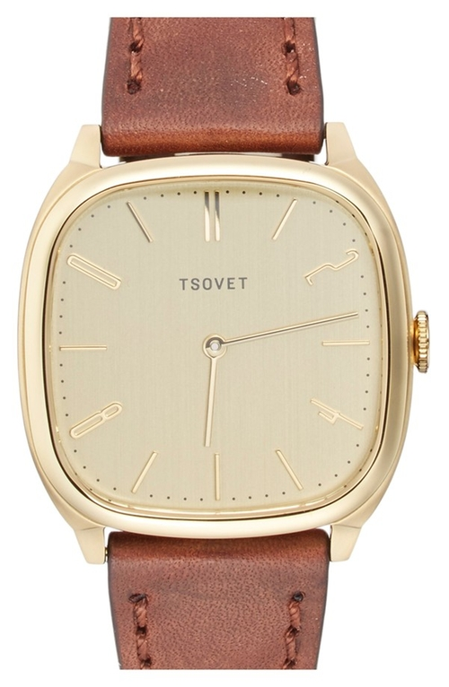 'JPT-TW35' Square Leather Strap Watch by Tsovet in Confessions of a Shopaholic