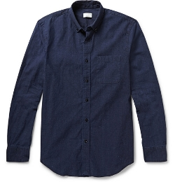 Button-Down Collar Cotton Chambray Shirt by Club Monaco in Paper Towns