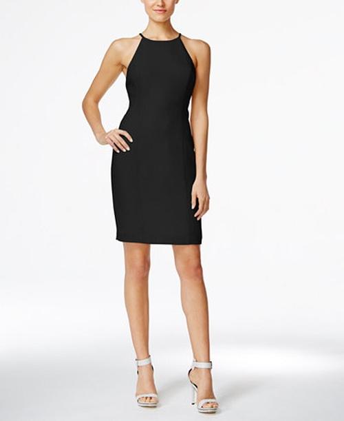 Racerback Halter Sheath Dress by Calvin Klein in La La Land