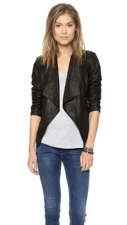 Tyne Leather Jacket by BB Dakota in Addicted