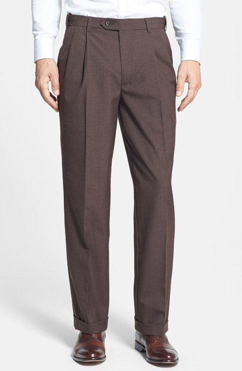 Self Sizer Waist Pleated Trousers by Berle in Hall Pass