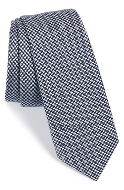 Houndstooth Silk Blend Tie by Calibrate in Suits
