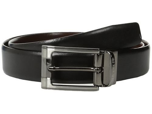 Smart Leather Reversible Belt by Ted Baker in Ballers