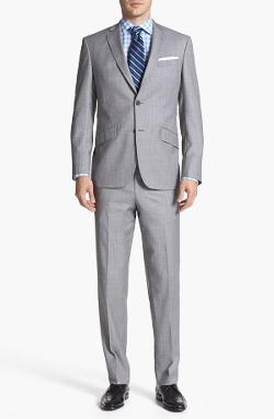 'Jones' Trim Fit Wool Suit by Ted Baker London in Ted 2
