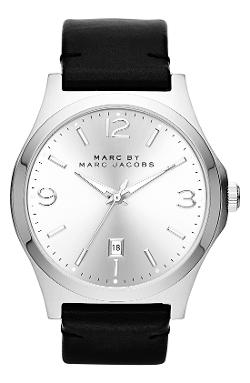 'Danny' Round Leather Strap Watch by Marc by Marc Jacobs in Ride Along