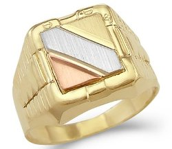 Gold Mens Large Watch Band Fashion Ring by Sonia Jewels in Hot Pursuit