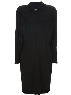 Button Down Shirt Dress by Thierry Mugler Vintage in Ouija