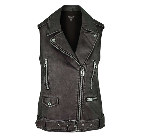 Sleeveless Biker Jacket by Topshop in Power Rangers