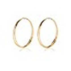 Gold Tone Rhinestone Double Hoop Earrings by River Island in Pitch Perfect 2